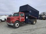 (Chester, VA) 2001 International 4700 Chipper Dump Truck runs and drives, dump body operates, oil le