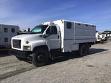 (Chester, VA) 2008 GMC C6500 Chipper Dump Truck not running, operating condition unknown, key broken