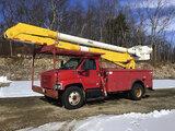 (Shrewsbury, MA) Altec AA755L, Bucket Truck rear mounted on 2003 GMC C7500 Utility Truck runs, drive