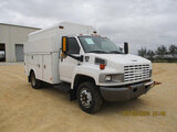(Houston, TX) 2008 GMC C5500 Enclosed High-Top Service Truck Not running, condition unknown, minor b