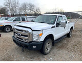 (Smock, PA) 2011 Ford F250 4x4 Extended-Cab Pickup Truck runs rough,  with jump start, drives, body