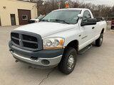 (La Porte, IN) 2006 Dodge W2500 4x4 Pickup Truck Unit will run, drive, and operate.  4x4 will not en