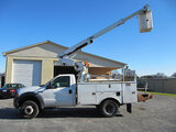 (Shelby, NC) Altec AT200-A, Telescopic Non-Insulated Bucket Truck mounted behind cab on 2007 Ford F4