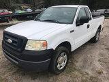 (Ocala, FL) 2007 Ford F150 Pickup Truck Starts, Runs & Drives