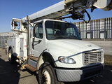 (Columbus, OH) Altec DM47-TR, Digger Derrick rear mounted on 2012 Freightliner M2 106 4x4 Utility Tr