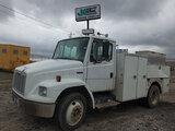 (Wright City, MO) 2004 Freightliner FL70 Air Compressor Utility Truck runs, drives, body and rust da