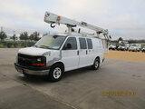 (Houston, TX) Duralift DSV-29, Telescopic Non-Insulated Bucket Van , 2007 Chevrolet G3500 Cargo Van