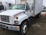 (Chester, VA) 1998 GMC C7500 Van Body Truck not running, condition unknown, drivetrain condition unk