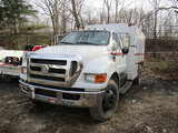 (Harmans, MD) 2008 Ford F750 Chipper Dump Truck not running, starter issues, body damage, operating