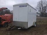 (Charlotte, MI) 2014 Sure-Trac STR7212SA S/A Enclosed Cargo Trailer minor body damage
