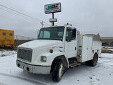 (Wright City, MO) 2002 Freightliner FL70 Utility Truck Starts, runs, drives, body damage