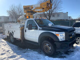 (Neenah, WI) Versalift SST37EHI, Articulating & Telescopic Bucket Truck mounted behind cab on 2012 F