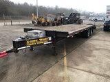(Conway, AR) 2012 Lone Wolf 25X102 20K T/A Tagalong Equipment Trailer, 20,000 lb. GVWR wheel bearing