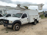 (San Antonio, TX) Altec AT200-AV, Telescopic Non-Insulated Bucket Truck mounted behind cab on 2007 F