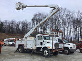 (Shrewsbury, MA) Altec AA755L, Material Handling Bucket Truck rear mounted on 2007 Peterbilt 335 Uti
