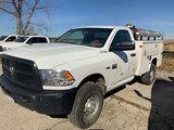 (Kansas City, MO) 2012 Dodge W2500 4x4 Service Truck Cranks, will not start. Seller states bad fuel