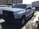 (Bloomington, IL) 2012 Dodge W2500 4x4 Crew-Cab Pickup Truck Starts with aid, runs and drives.