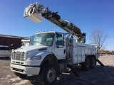 (Des Moines, IA) Altec DM45-TR, Digger Derrick rear mounted on 2009 Freightliner M2 106 T/A Utility