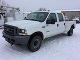 (Des Moines, IA) 2002 Ford F350 4x4 Crew-Cab Pickup Truck runs, drives, rust damage