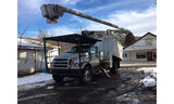(Deposit, NY) Altec LRV-55, Over-Center Bucket Truck mounted behind cab on 2010 Ford F750 Chipper Du