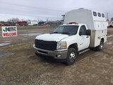 (Charlotte, MI) 2012 Chevrolet K3500HD 4x4 Enclosed Service Truck runs & drives, need batteries