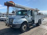 (South Beloit, IL) HiRanger SC45, Over-Center Bucket Truck center mounted on 2010 International 4300