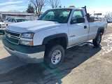 (South Beloit, IL) 2005 Chevrolet K2500HD 4x4 Pickup Truck runs and drives, rust and body damage (se