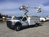 (Chester, VA) Altec AT35G, Articulating & Telescopic Bucket Truck mounted behind cab on 2013 Ford F5