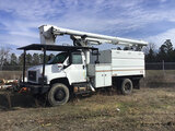 (Chester, VA) Altec LRV-55, Over-Center Bucket Truck mounted behind cab on 2008 GMC C7500 4x4 Chippe