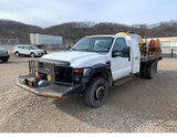 (Smock, PA) 2009 Ford F450 4x4 Spray Truck Starts, runs rough and knocks. drive train operates, but