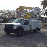(Graysville, AL) Altec AT37G, Articulating & Telescopic Bucket Truck mounted behind cab on 2014 Ford