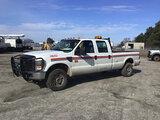 (Chester, VA) 2009 Ford F350 4x4 Crew-Cab Pickup Truck runs and drives, park brake light on