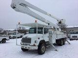 (DeMoine, IA) Altec A75, Bucket Truck rear mounted on 2001 Freightliner FL80 T/A Flatbed/Utility Tru