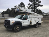 (Chester, VA) Altec AT40G, Articulating & Telescopic Bucket Truck mounted behind cab on 2011 Ford F5