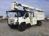 (Chester, VA) HiRanger XT55, Over-Center Bucket Truck mounted behind cab on 2005 GMC C7500 Chipper D