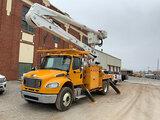 (Joplin, MO) Altec AN55E-MH, Material Handling Bucket Truck rear mounted on 2014 Freightliner M2 106