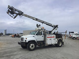 (Chester, VA) Telsta T40C, Non-Insulated Cable Placing Bucket center mounted on 2002 GMC C7500 Utili