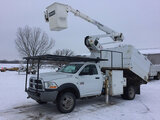 (Des Moines, IA) Terex/HiRanger LT40, Articulating & Telescopic Bucket Truck mounted behind cab on 2