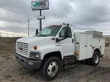 (Wright City, MO) 2006 GMC C8500 Air Compressor Utility Truck runs, drives, body rust damage, rear b
