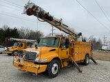 (Joplin, MO) Altec DM47-TR, Digger Derrick rear mounted on 2011 International 4300 Utility Truck run