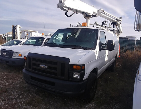 Duralift DVS29, Telescopic Non-Insulated Bucket Van mounted on 2008 Ford E350 Cargo Van not running,