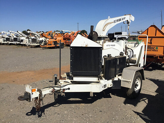 "2009 Altec DC912A Chipper (12"" Disc), trailer mtd No Title) (starts and runs and operates, serviced"