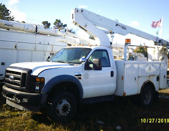 Duralift DTS29, Telescopic Non-Insulated Bucket Truck mounted behind cab on 2008 Ford F450 Service T