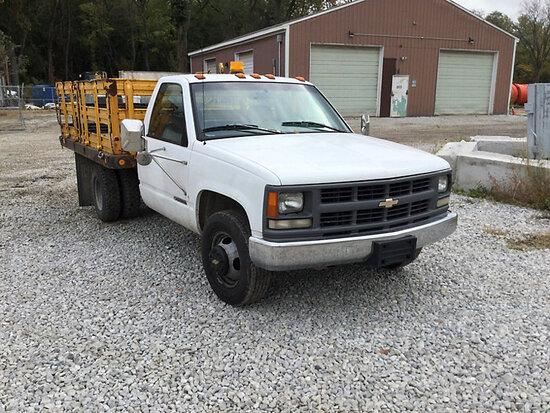 1996 Chevrolet C3500 Stake Truck Runs, drives