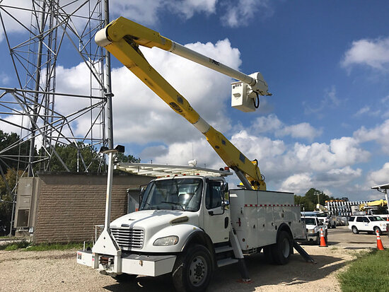 Altec AA755-MH, Material Handling Bucket Truck rear mounted on 2010 Freightliner M2 Utility Truck St