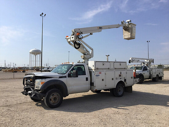 Altec AT235, Articulating & Telescopic Non-Insulated Bucket Truck mounted behind cab on 2011 Ford F4
