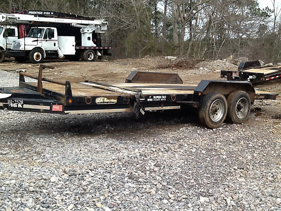 2012 Great Northern TB20-16K T/A Tagalong Equipment Trailer minor body damage, towable