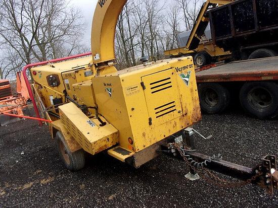 "2010 Vermeer BC1000XL Chipper (12"" Drum), trailer mtd runs, operates, minor body damage) (No Title"