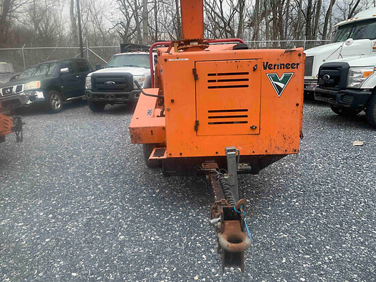 "2011 Vermeer BC1000XL Chipper (12"" Drum), trailer mtd engine missing parts, not running, operating c"