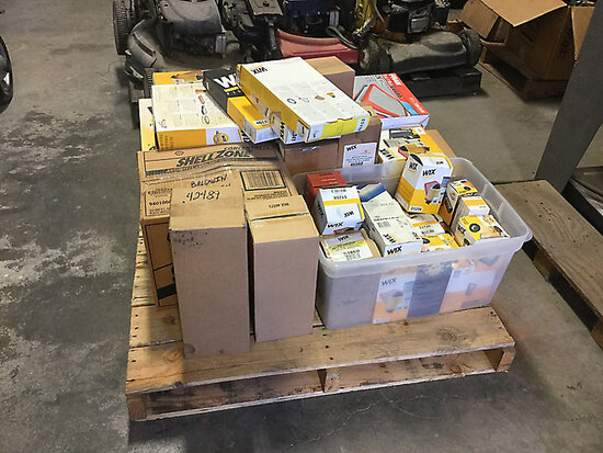 (1) Pallet of Assorted Miscellaneous Filters and Auto Parts NOTE: This unit is being sold AS IS/WHER